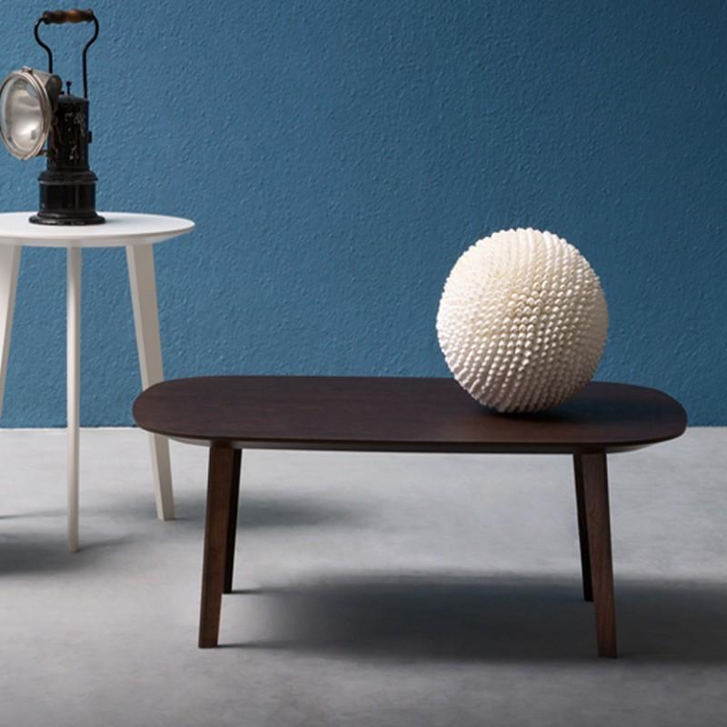 Tavolino Life Rettangolare con struttura in legno