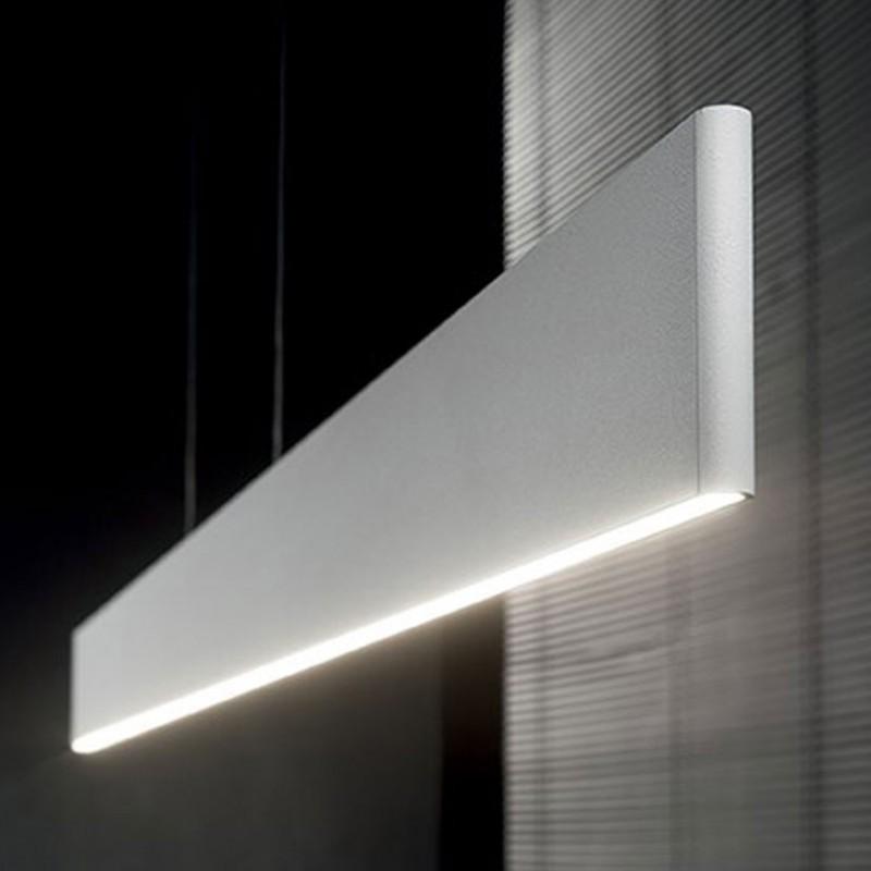 Lampada a sospensione Desk in alluminio verniciato a polveri bianco opaco