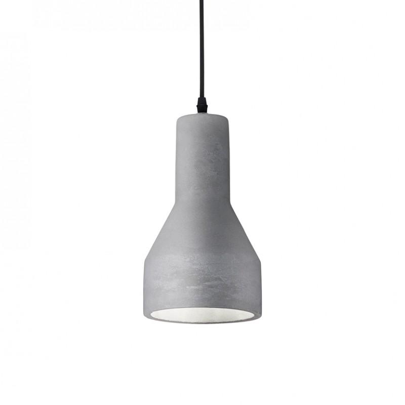Lampada a sospensione Oil 1 realizzata in metallo e cemento