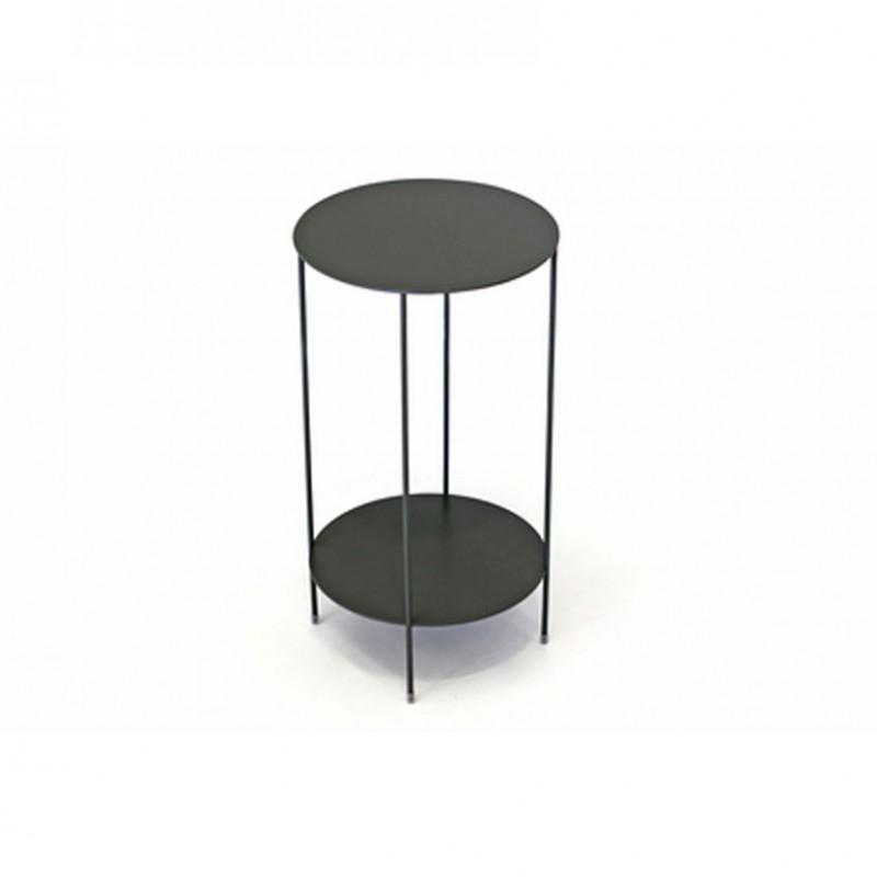 Tavolino rotondo Wok con struttura in metallo