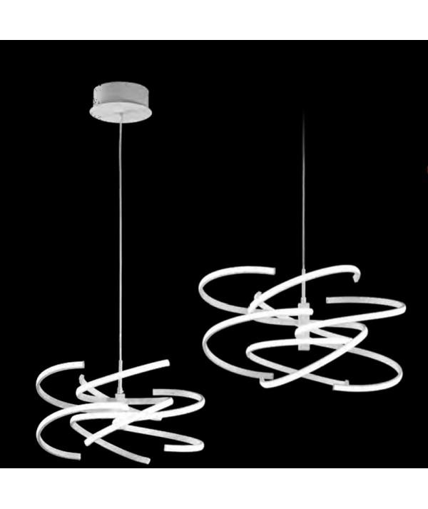 Lampada a sospensione Astro in metallo verniciato bianco