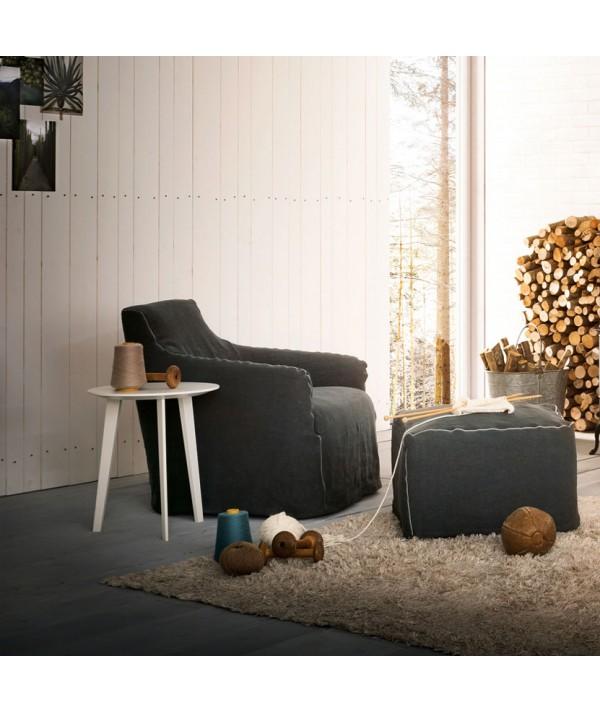 Life tavolino rotondo con struttura in legno