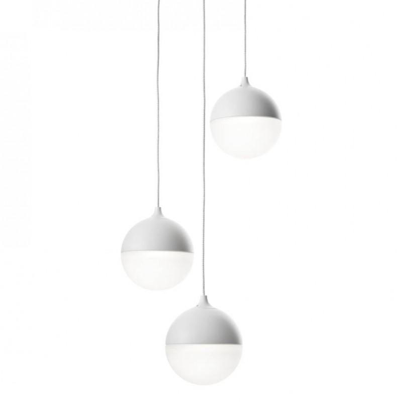 Lampada a sospensione Sky Fall 3 in alluminio