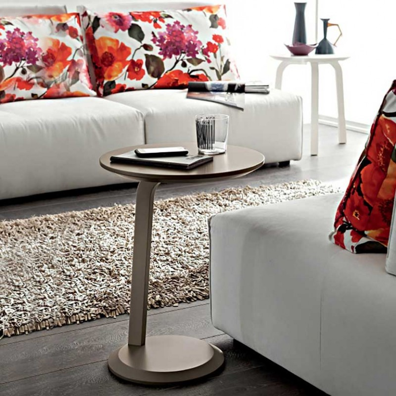 Tavolino rotondo Gioia realizzato in legno