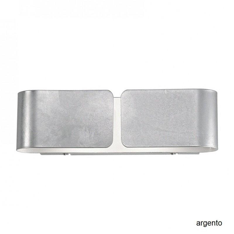 Applique Clip Small in lamina di metallo argento