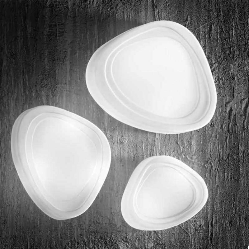 Plafoniera in Vetro Bianco in diverse dimensioni