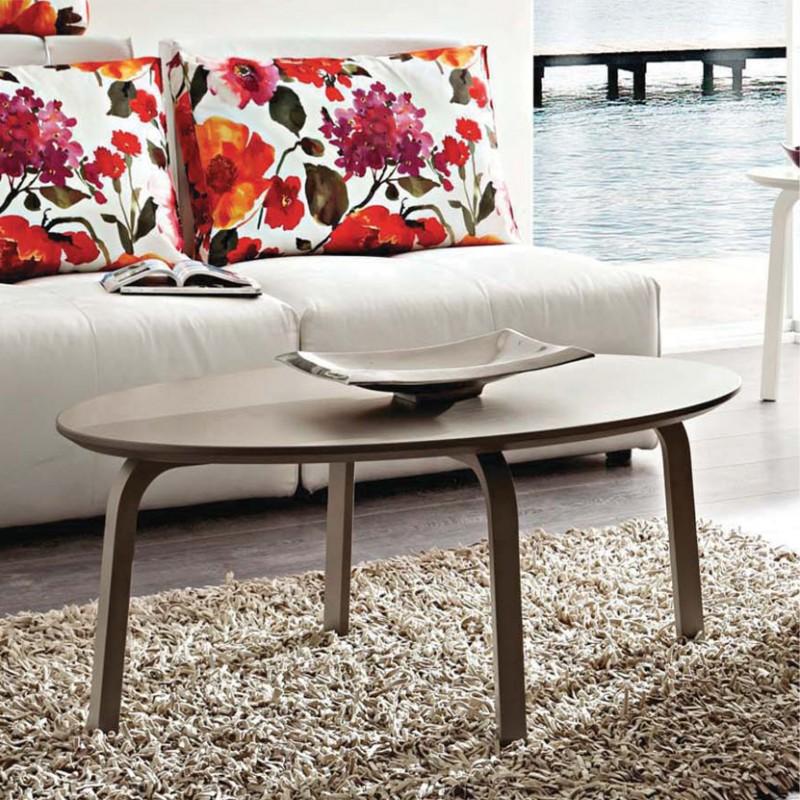 Gioia tavolino da salotto ovale in legno laccato