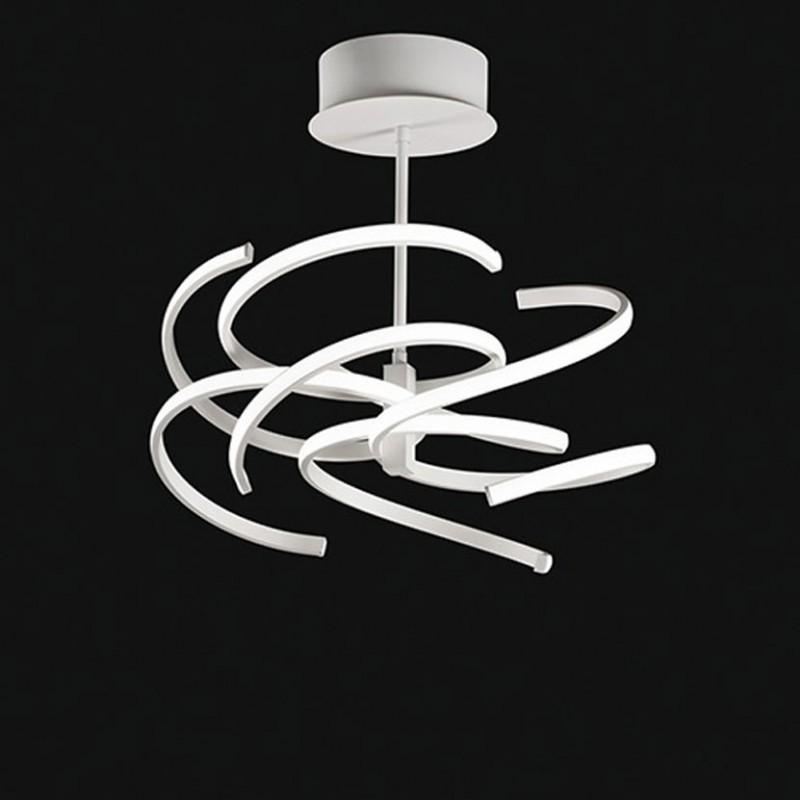 plafoniera a led in metallo bianco
