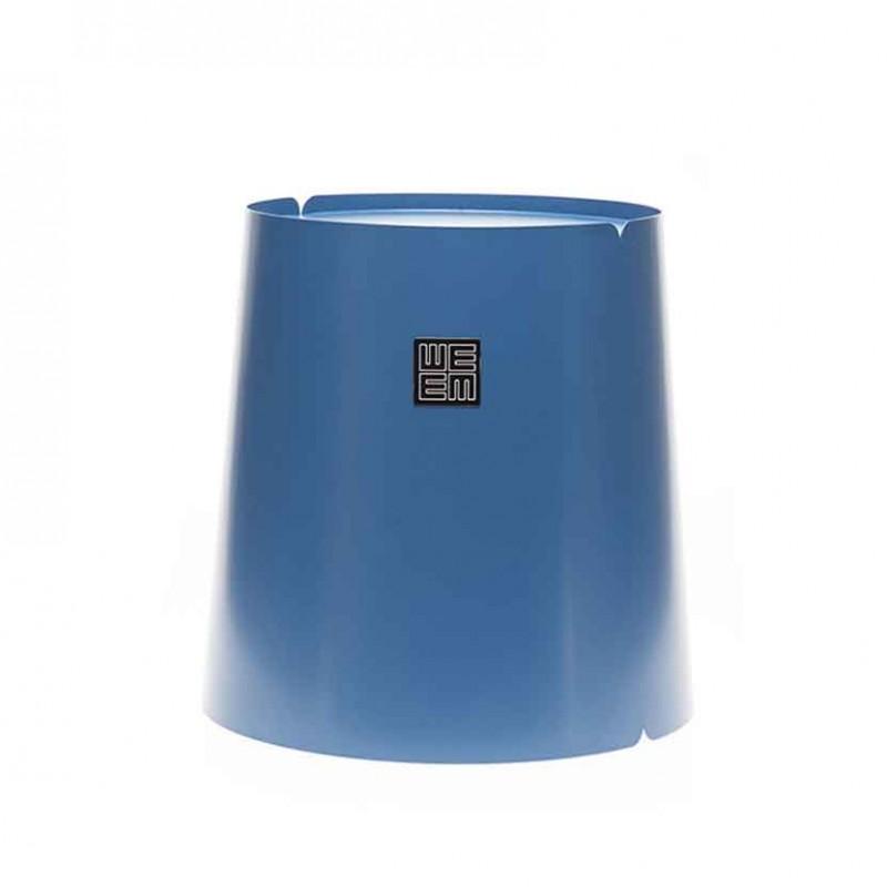 Tavolino rotondo Bobino Top metallo laccato petrolio con ruote interne