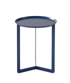 Tavolino Round 1 in metallo blu navy