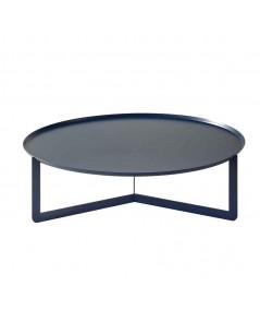 Tavolino da salotto Round 1 in metallo blu navy