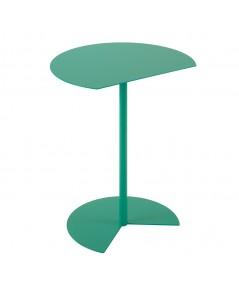 Tavolino Way Sofa in metallo salvia con piano con taglio netto