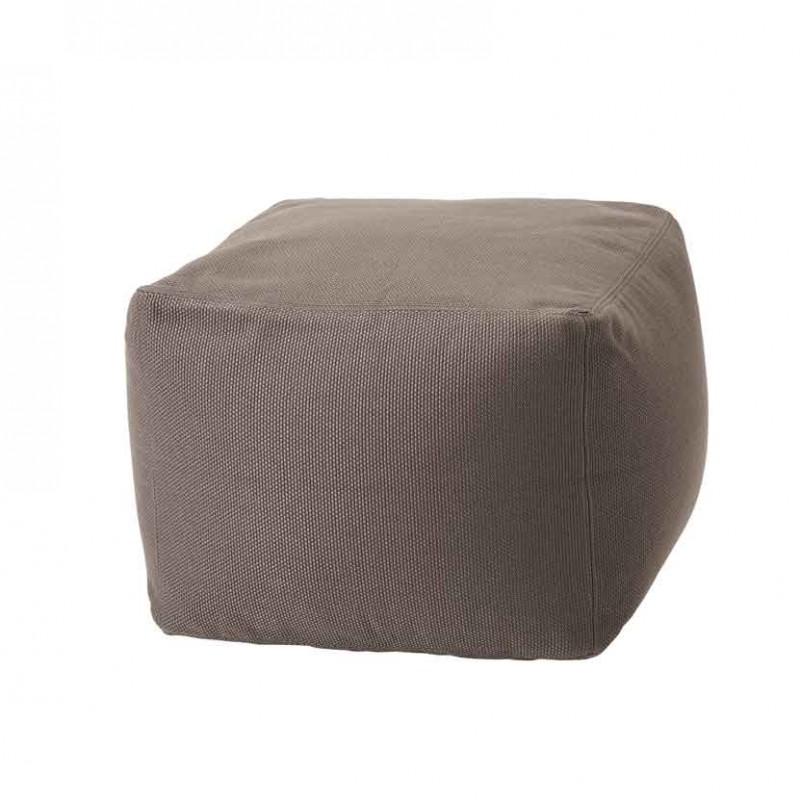 Pouf Archimede per ambienti outdoor in tessuto tecnico grigio antracite