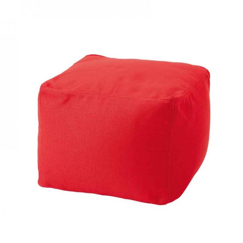 Pouf Archimede per ambienti outdoor in tessuto tecnico rosso papavero