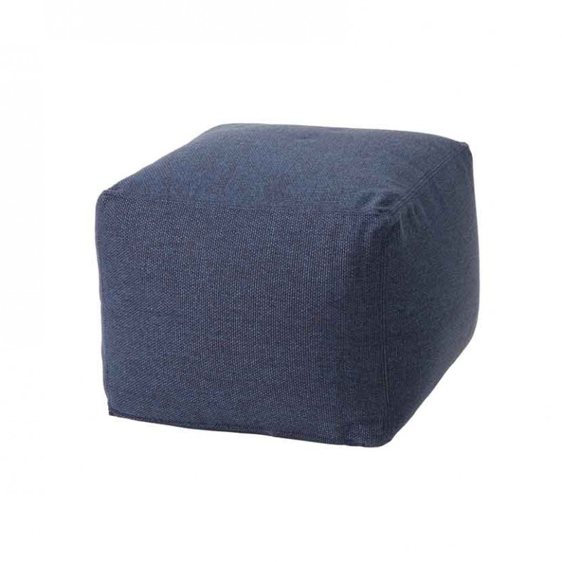Pouf Archimede per ambienti outdoor in tessuto tecnico blu navy