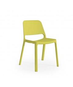 Sedia Nuke in polipropilene per esterno di colore giallo