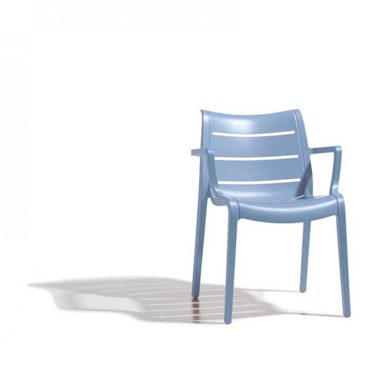 Sedie Sunset  per esterno in tecnopolimero di colore azzurro