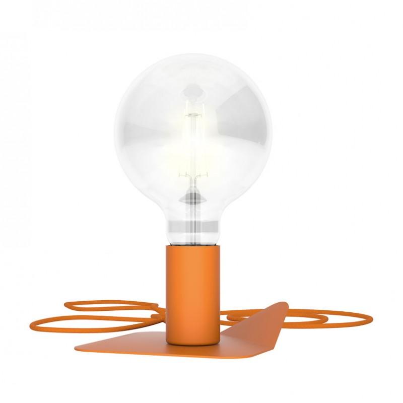 Lampada in metallo Magnetico di Filotto color arancio
