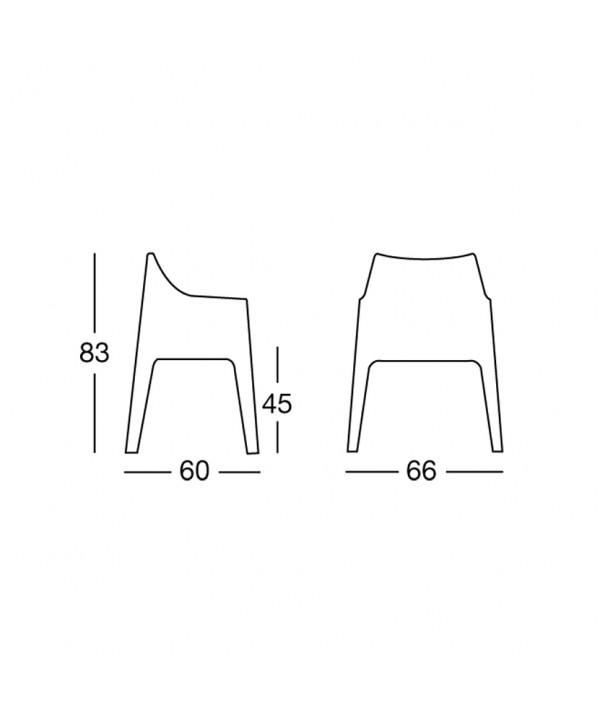 Poltrona Coccolona in tecnolpolimero scheda tecnica