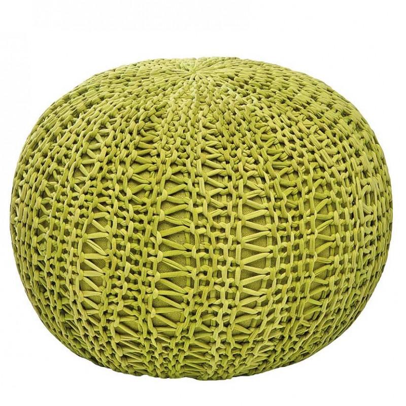 Pouf Bingo Green in cotone verde