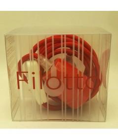 Lampada Spinello Ceramico E27 con portalampada in ceramica rossa in scatola