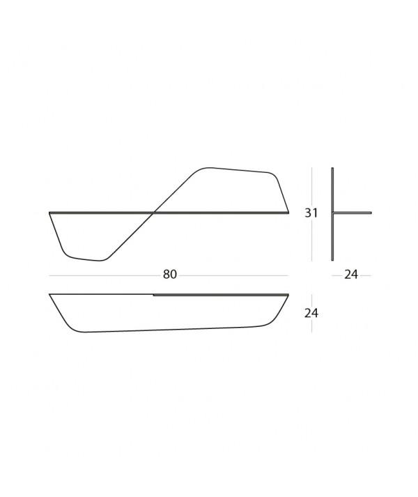Mensola Flap in metallo scheda tecnica