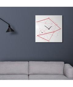 Orologio da parete Thime Lime  bianco realizzato su lamiera di metallo bianco foto ambientata