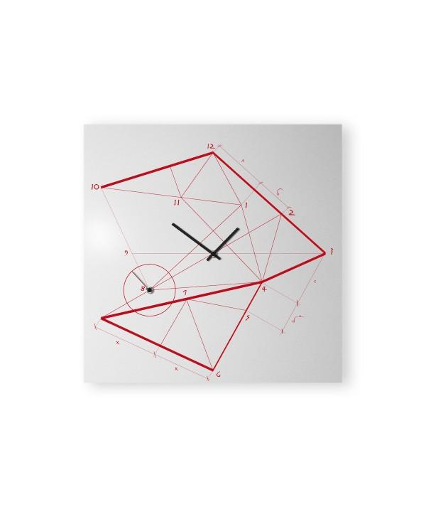 Orologio da parete Thime Lime Nero realizzato su lamiera di metallo nero foto