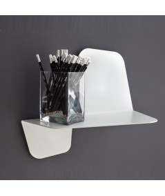 Mensola Flap 420 in metallo bianco