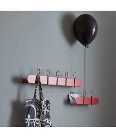 Appendiabiti Mensola Balloon in metallo laccato rosso