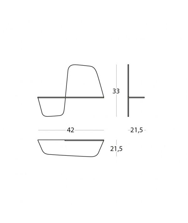 Mensola Flap 420  scheda tecnica