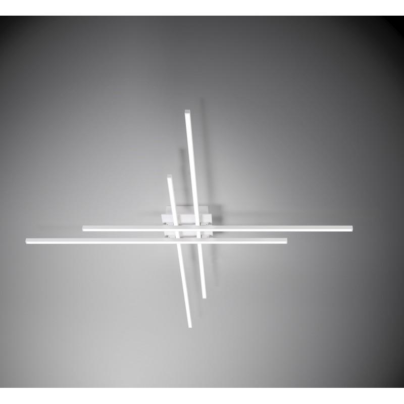 Lampada a sospensione hashtag di vivida in alluminio di colore bianco