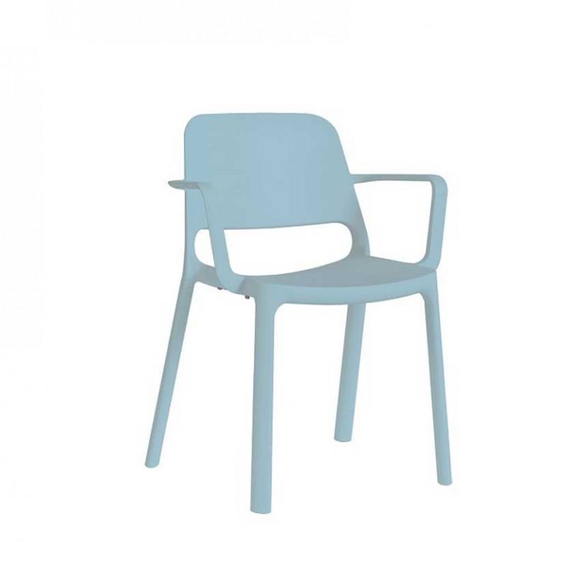Sedie In Polipropilene Colorate.Linkarredo Set 4 Sedie Nuke Con Braccioli Esterno