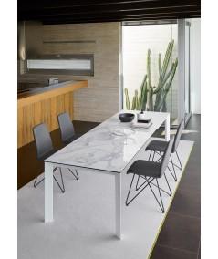 tavolo Gallileo allungabile in keramic white