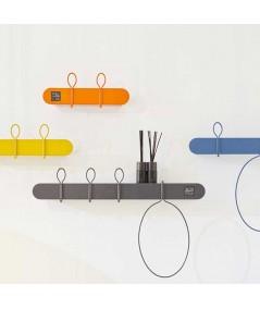 Appendiabiti Mensola da parete Balloon Bis in metallo colorato dimensioni diverse