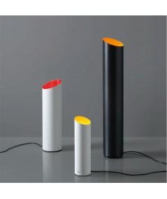 Lampada da tavolo Slice in fibra di carbonio e fibra di vetro bianca