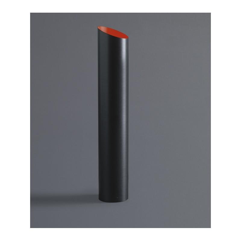 Lampada da tavolo Slice in fibra di carbonio interno rosso