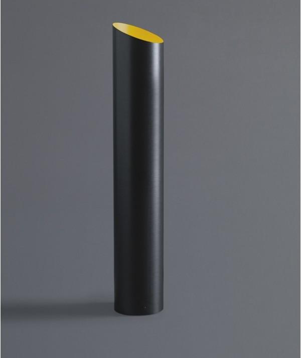 Lampada da tavolo Slice in fibra di carbonio interno giallo