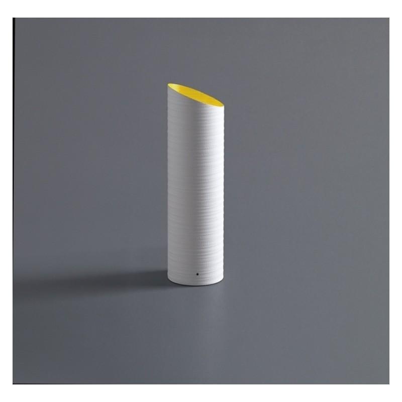 Lampada da tavolo Slice in fibra di vetro bianca