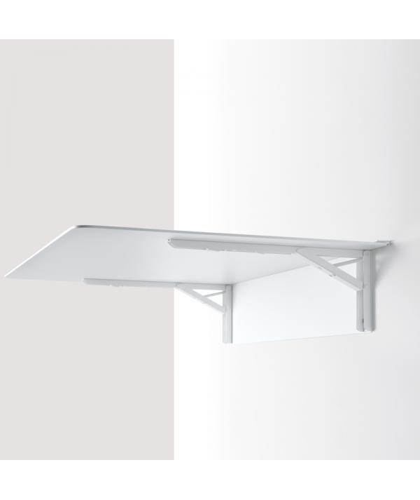 mensola tavolo  aperta in alluminio di pezzani ambientata