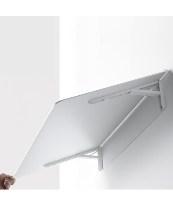 scrivania mensola tavolo richiudibile in alluminio di pezzani