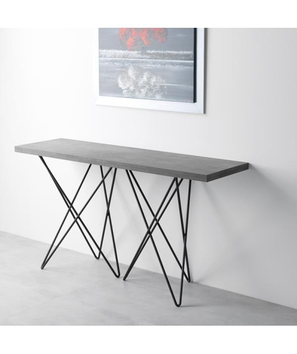 Tavolo Consolle in laminato cemento