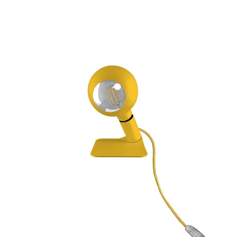 Lampada in metallo color giallo di Filotto