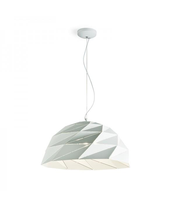 lampada mezza sfera in metallo bianco