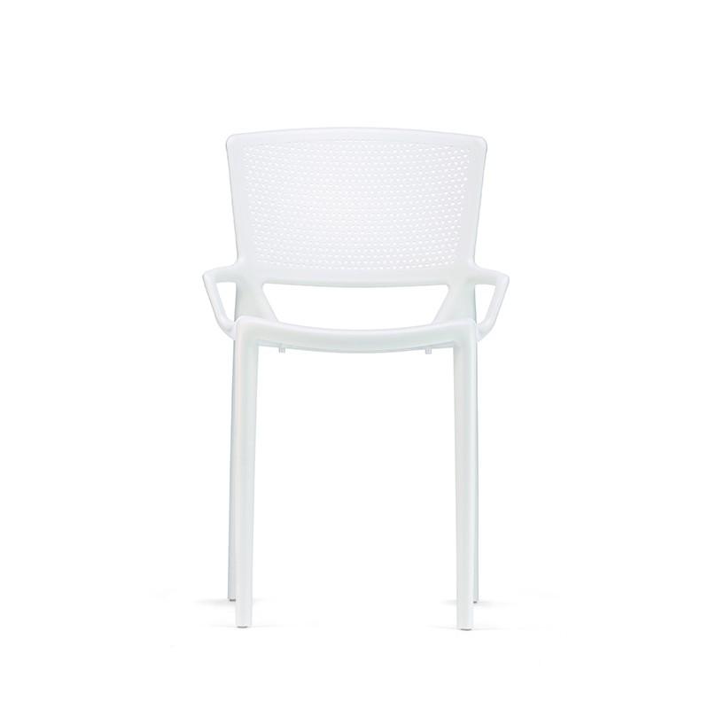 sedia fiorellina infiniti senza braccioli bianco