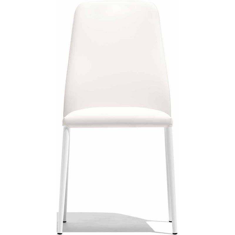 sedia club connubia bianca fronte