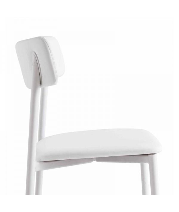 sedia up connubia bianca laterale