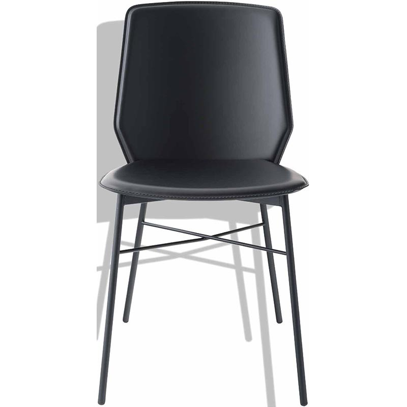 sedia sibilla di connubia nera
