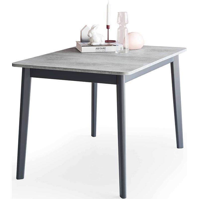 tavolo allungabile dine di connubia calligaris in faggio e nobilitato grigio ambientato