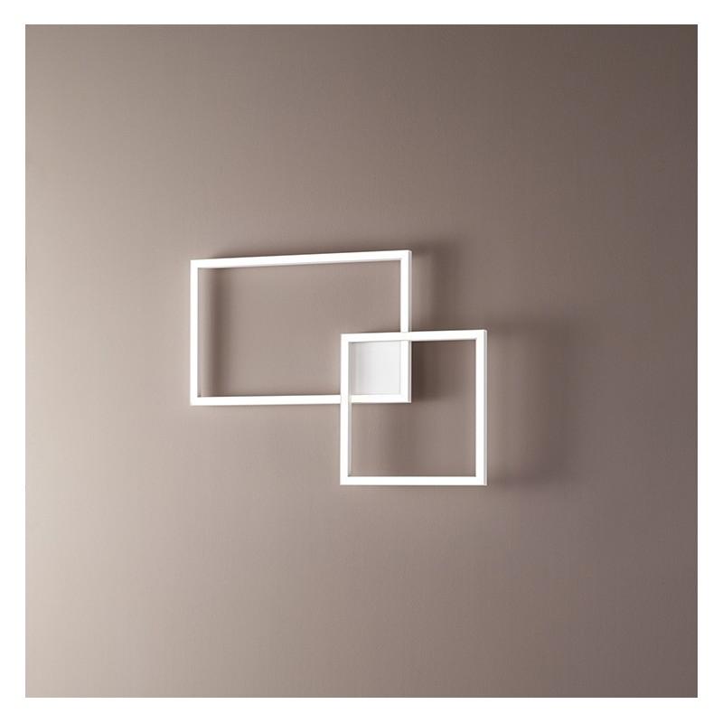 lampada a soffitto o parete Cross in alluminio  bianco di Perenz